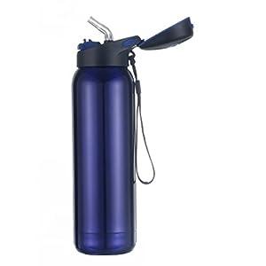 Kooyi Sports Bottiglia di acqua in acciaio inox 500 ml, Tazza da viaggio Mug da caffè, 100% a prova di perdite, senza BPA, Blue (blu)