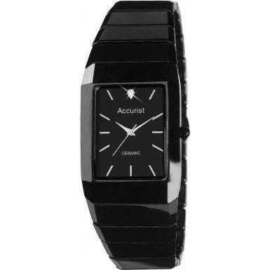 Accurist Men's Quartz Watch with Black Dial Analogue Display and Black Ceramic Bracelet MB952.01