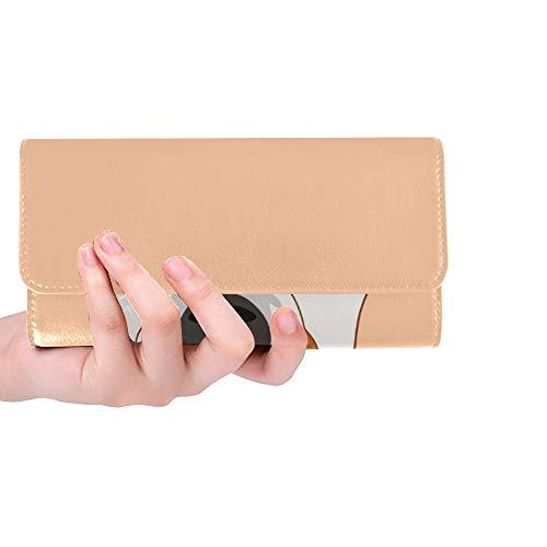 Einzigartige benutzerdefinierte Jack Russell Terrier Buddy Dog Frauen Trifold Wallet Lange Geldbörse Kreditkarteninhaber Fall Handtasche -