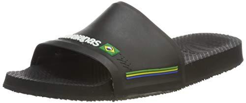 Havaianas Slide Brasil, Ciabatte Unisex Adulto, Nero (Black 0090), 47/48 EU [45/46 BR]