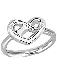 2Jewels corazón NODO D'amore anillo circonios RG 55 221057-15 acero inoxidable