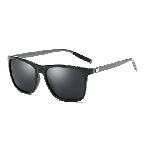 wearPro Sonnenbrille Mens Retro Vintage Polarisierte Sonnenbrille WP1003 (schwarz/gun, 2.16)