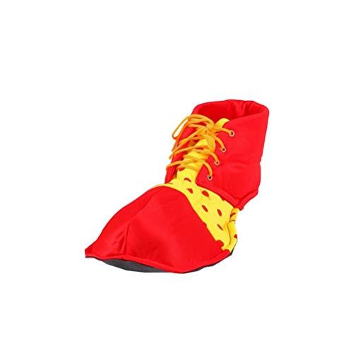 BESTOYARD Clown Schuhe Karneval Party Supplies Leistung Kostüm Requisiten Cosplay Kostüm Schuhe für Frauen Männer 1 STÜCKE (Rot) (Jumbo Clown Kostüm)