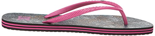DC Shoes Spray Graffik, Tongs Femme Multicolore (Military)
