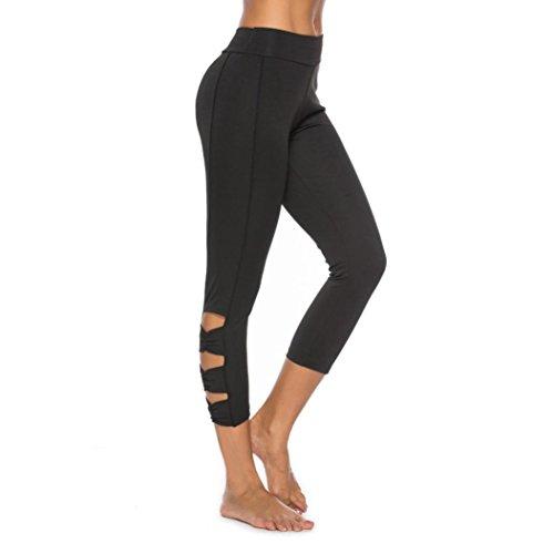 OYSOHE Damen Leggings,Frauen Trainings Gamaschen Eignungs Sport Gymnastik laufende Yoga Athletische Hollow Hosen Leopard Legging-set