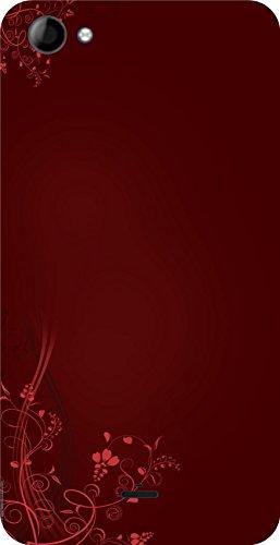 Shengshou Graffiti Design Mobile Back Cover for Micromax Unite 3 Q372 - Red