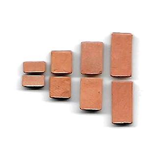ALEA Mosaic Backsteine 16x8x4mm,12x8x4mm,8x8x4mm,4x8x4mm, für SteinBaukasten, 200 Stück - Ziegelrot für Modellbau