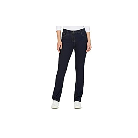 The Collection Womens Straight Leg Jeans Dark Blue 20S