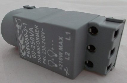 60~250 watt Replacement dimmer switch module 1 or 2 way operation. Push on/off rotary dim. by GET