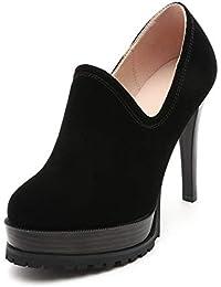 UENGF Tacones Altos Tacones Altos para Mujer Cremalleras Poco Profundas  Verano Zapatos De Mujer Cómodos Tacones b4df9cdd5d80