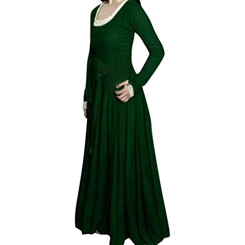 eid Gewand Gothic Spitze Langarm Kleider Viktorianischen Königin Kostüme Retro Renaissance Medieval Princess Dress Erwachsene Cosplay Karneval Fasching Halloween Weihnachten Party ()