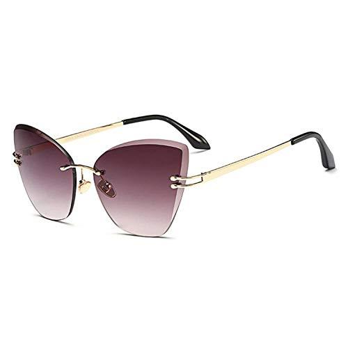 XCTYQ Sonnenbrillen Sonnenbrillen Frauen Randlose Ocean Lens Sonnenbrillen