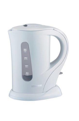 Severin WK 3360 Wasserkocher, weiß / 1,0 Liter Inhalt / 1000 W