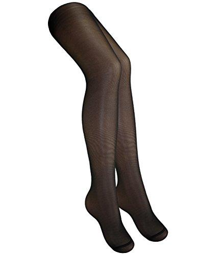 Schwarz Lycra Sheer (Ewers Mädchenfeinstrumpfhose Feinstrumpfhose Markenstrumpfhose Strumpfhose Streetwear einfarbig für Kinder (EW-96830-S17-MA1-988-134/146) in Schwarz, Größe 134/146 inkl. EveryKid-Fashionguide)