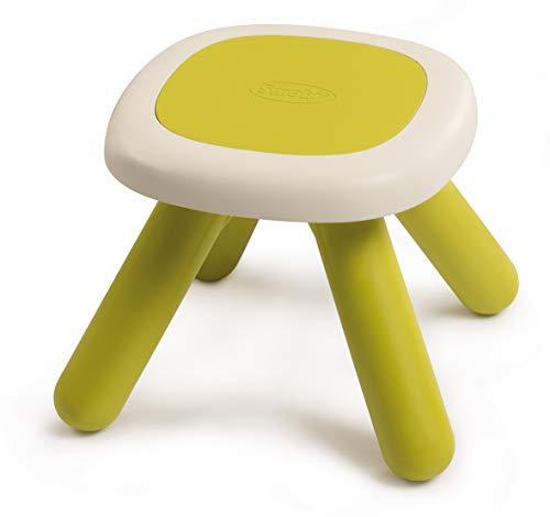 Smoby 880205 Kid Hocker grün, Design Kinder-Hocker aus Kunststoff, Kinder-Stuhl für Kinderzimmer oder passend zu Smoby Spielhäusern, Made in France, grün