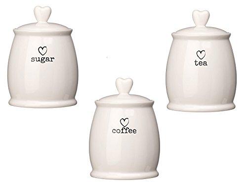 tea coffee sugar canisters white. Black Bedroom Furniture Sets. Home Design Ideas