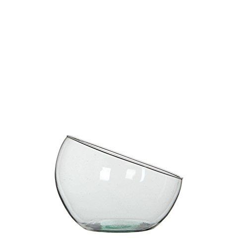 MICA Decorations Boly Glasschale/Vase, Glas, transparent, 19.5 x 19.5 x 18 cm