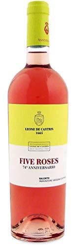 Leone de castris vino five roses anniversario rosato salento igt - 6 bottiglie da 750 ml