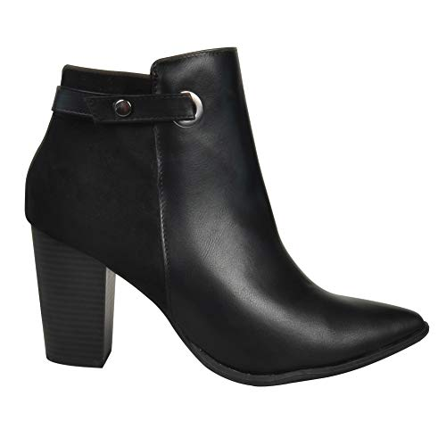 Mylu Womens Fashion High Heel Shoes Ankle Boots
