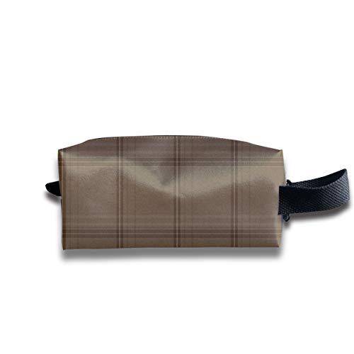 13 Scale New Ancient Plaid In verwitterten Brown_15588 Tragbare Reise Make-up Kosmetiktaschen Organizer Multifunktions-Tasche Taschen für Unisex -