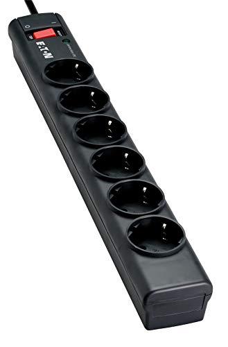 Eaton/Protection Strip 6 DIN - 68583 - Regleta de protección contra sobretensiones, 6 tomas DIN de salida, negro