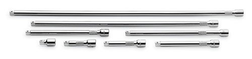 SK 4538 8 PIECE 1-1/2-INCH  3-INCH  4-INCH  6-INCH  8-INCH  10-INCH  18-INCH AND 24-INCH 3/8-INCH DRIVE EXTENSION SET BY SK HAND TOOL
