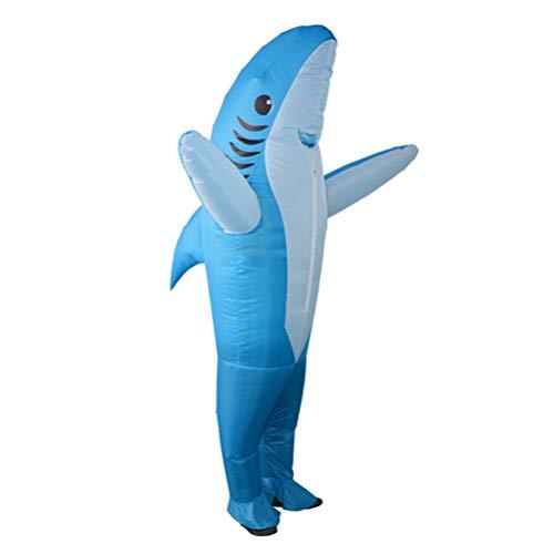 Erwachsene Delfin Kostüm Für - Amosfun Cosplay Aufblasbares Kostüm Erwachsene Delfin Kostüm für Halloween Karneval Party Abschlussball Requisiten M blau