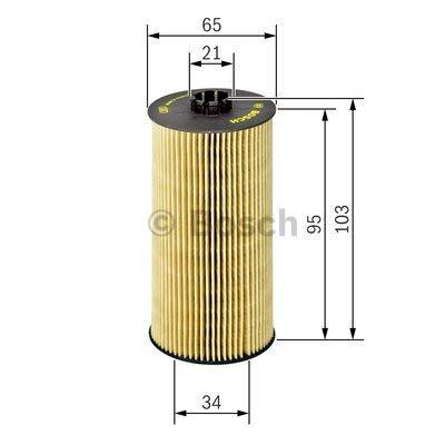 Bosch F026407157 Cartuccia Filtro Olio