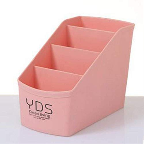 WSDZMSNH Multifunktionale Kunststoff Make-Up Box Schmuckschatulle Mit Kleinen Schublade Schreibtisch Kleinigkeiten Veranstalter Kosmetische AufbewahrungsboxenRosa17X8X12,5 cm