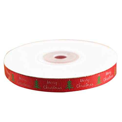 Toyvian decorazioni natalizie nastri natalizi per confezioni regalo con fiocchi per capelli che fanno 25 yard (rosso)