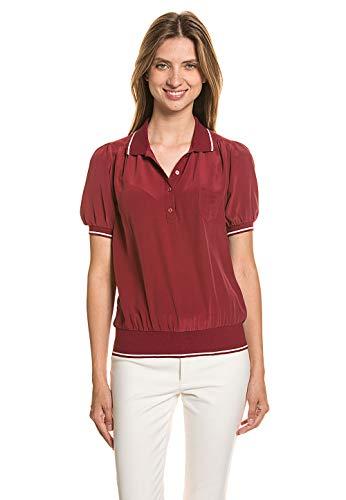 GANT Damen Damen Bluse Shirt Oberteil Top gerade Passform Kurzarm leicht Seide