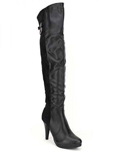 Cendriyon, Cuissarde Noire BELLOSTAR Mode Chaussures Femme Noir