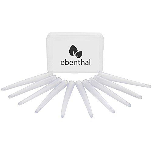 EBENTHAL ™ Einlaufspitzen: 10er Ersatz-Set – Flexible Aufsätze für den komfortablen Darmeinlauf zur Darmreinigung – BPA-frei – Sparen Sie 5% beim Kauf ab zwei Packungen