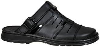 Calzado Genuina Piel Búfalo Zapatos Forma Ortopédica Cómodos Sandalias Hombres Modelo-839