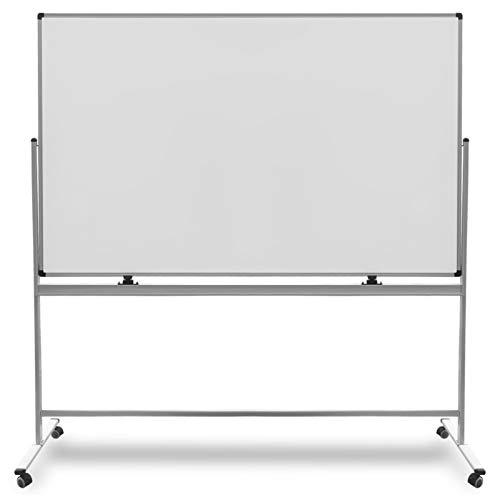 Mobiles Whiteboard | Magnet Tafel mit Fahrgestell und schutzlackierter Oberfläche | fahrbare Stativdrehtafel in 5 Größen (90 x 120 cm) - Fahrgestell