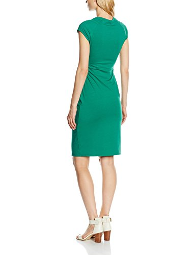 HotSquash Damen Kleid Raglan Sleeve Side Ruched Green (Lawn)