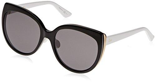 Dior Damen DIORIFIC1N Y1 3B8 Sonnenbrille, Schwarz (Bk Gold Whte/Grey), 57