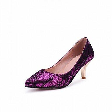 Moda Donna Sandali Sexy donna tacchi Primavera / Estate / Autunno / Inverno tacchi / Piattaforma / Novità / cinturino alla caviglia / Punta Purple