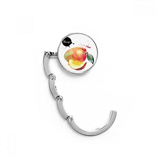 e tisch mango DIYthinker Manga Apfel Obst Tasty Aquarell Tabelle Haken Falttasche Schreibtisch Aufhänger Faltbare Halter 4,4 x 4,4 cm (Breite x Höhe) gefaltet Mehrfarbig