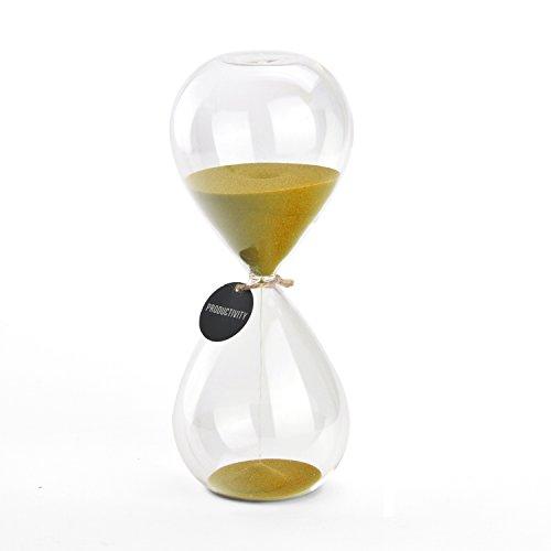 SWISSELITE 6 Farben Sand Timer/ab 3/5 / 15/30 / 60 - Minuten - heim schmücken Sanduhr ideal für Timing Kochen/Games auszuüben und Kinder Zahn putzen. (Gold)