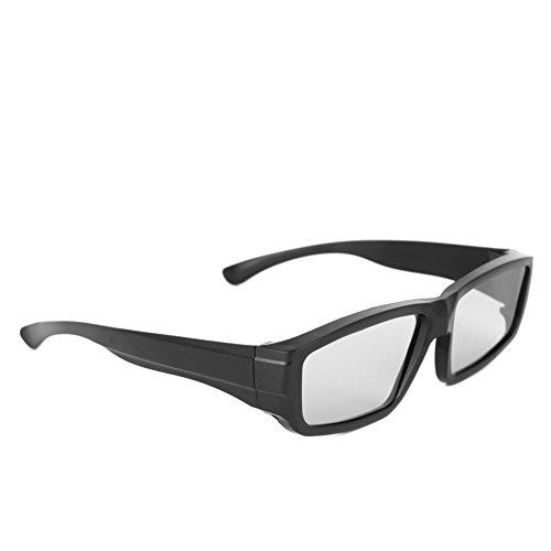 Freshsell H4 3D-Brille, rund, polarisiert, passiv, für 3D Kinos, Schwarz