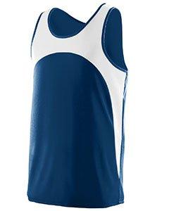 Augusta Sportswear Men'S Velocity Track Jersey S Navy/White (Drop-front-tank)