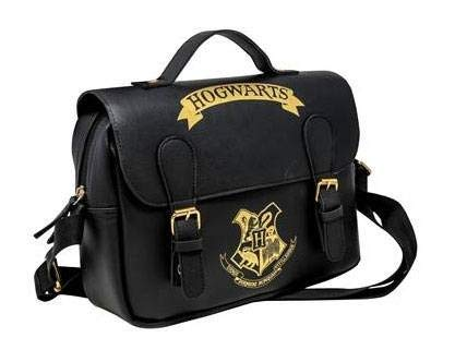 Harry Potter Lunch Bag Hogwarts Black & Gold Satchel