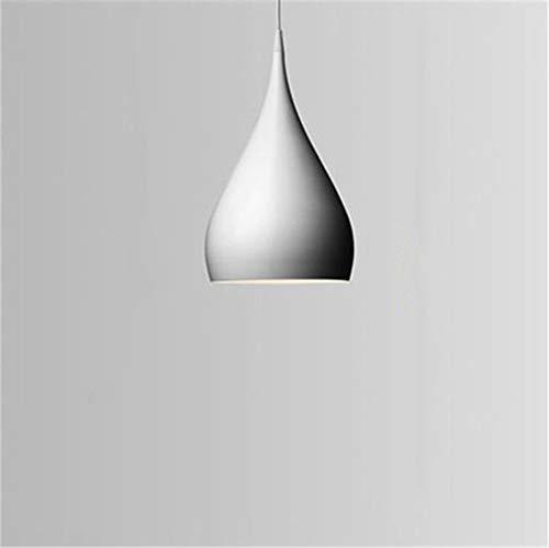 Mode PersöNlichkeit Single-Head Bartresen Pendelleuchte Aluminium Purplelights Esszimmer Lampe E27 Kerzenlicht Weiß