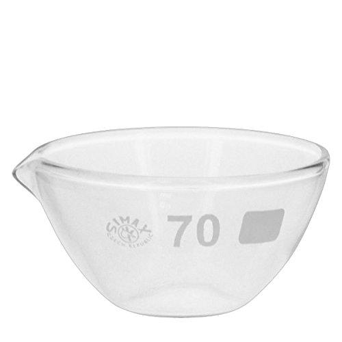 Abdampfschale 60ml Borosilikatglas mit Ausguss
