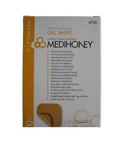 MEDIHONEY GEL SHEET DRESSING 5CM X 5CM -798 - 10 DRESSINGS by Derma Sciences