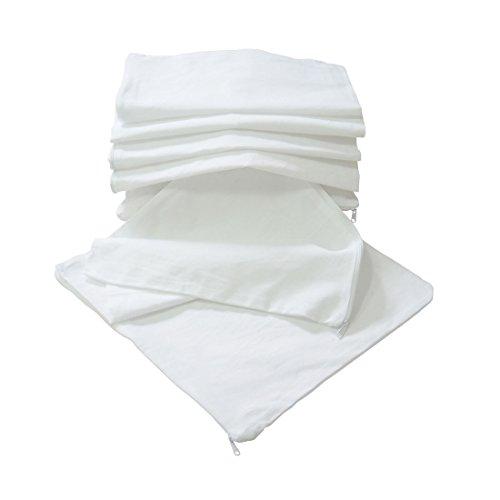 Nurtextil24 Kissen-Inlett 100% Baumwolle 20 Größen in Weiß mit Reißverschluss ohne Füllung 40 x 80 cm