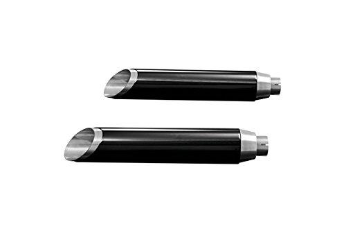 HIGHWAY HAWK HH657-2001 Schalldämpfer SLASHCUT, schwarze Abdeckung, H-D FXDF FAT BOB 08-, FXDWG WIDE GLIDE 10-, E-geprüft