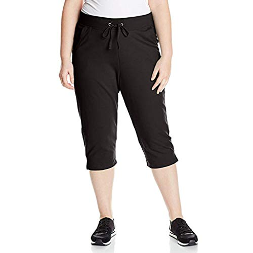 Maleya Frauen Komfortable Plus-Size Oberschenkel Slimmer Slip für Under Pants Cropped Trousers Leggings Yoga Hose Jogginghose Workout Fitness Leggings Sport Yoga Fitness Hosen Jogginghose -
