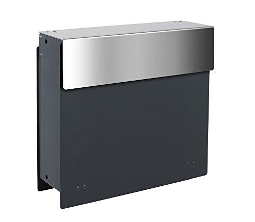 frabox Design Zaunbriefkasten ARLON Anthrazitgrau/Edelstahl